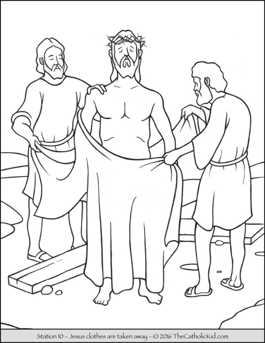 Stations Of The Cross Coloring Pages Coloring Page Coloring Page Sheets Stations Of The Cross Pages