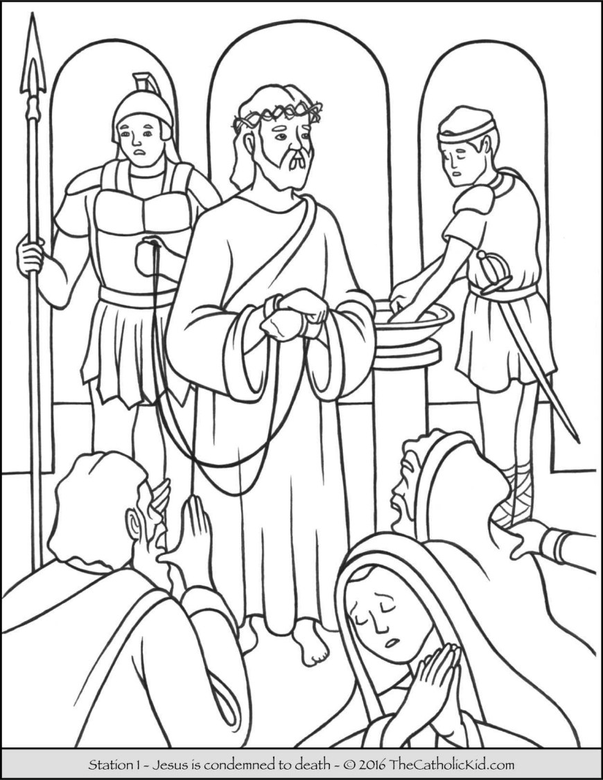 Stations Of The Cross Coloring Pages Coloring Pages Of The Stations Of The Cross Unique Jesus The Cross