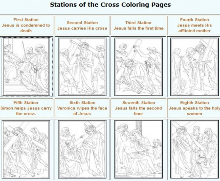 Stations Of The Cross Coloring Pages Stations Of The Cross Coloring Pages F5to With Saglik