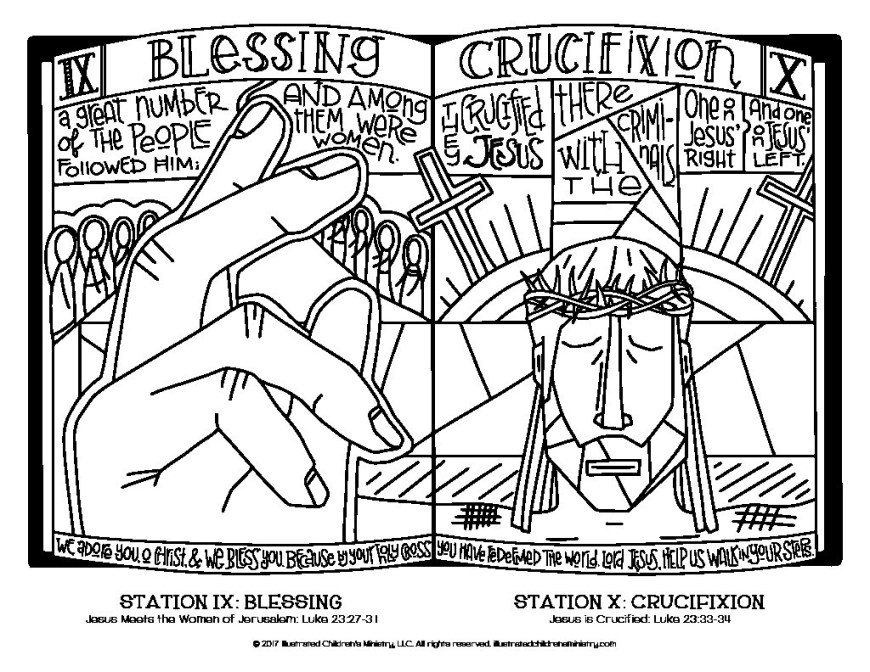 Stations Of The Cross Coloring Pages Stations Of The Cross Coloring Pages For All Ages Illustrated 12