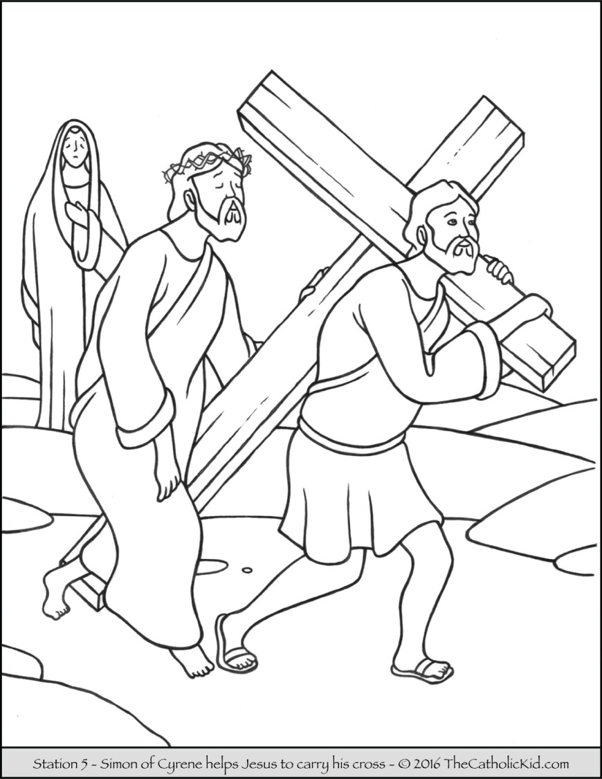 Stations Of The Cross Coloring Pages Stations Of The Cross Coloring Pages The Catholic Kid