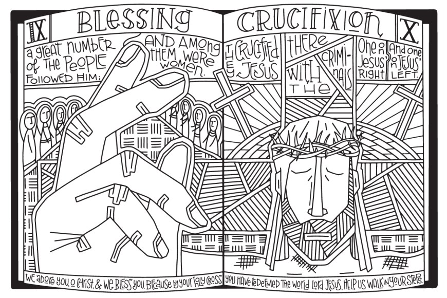 Stations Of The Cross Coloring Pages Stations Of The Cross Coloring Posters A Lenten Art Project