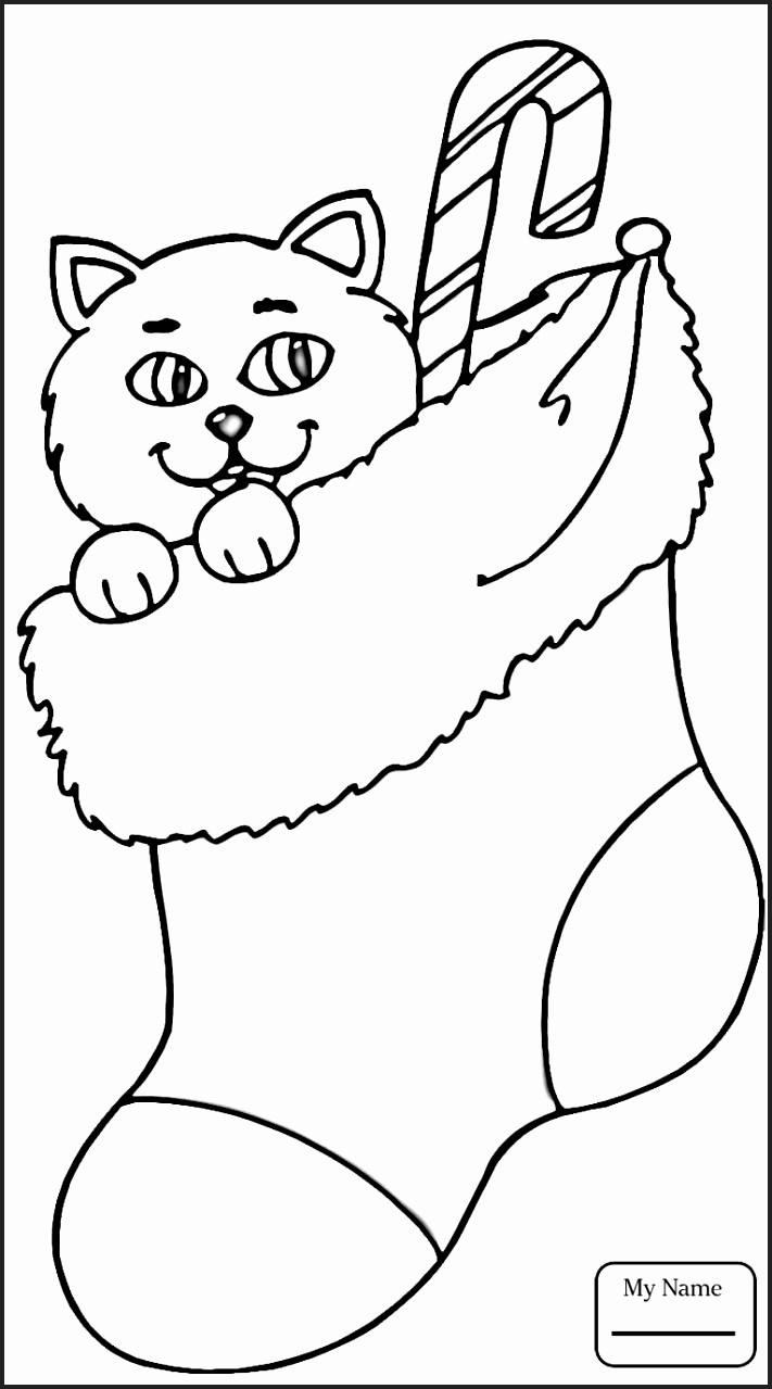 Stocking Coloring Page Abccolor4kids Christmas Stocking Coloring Page Fresh Gwgiz Pageyeoev