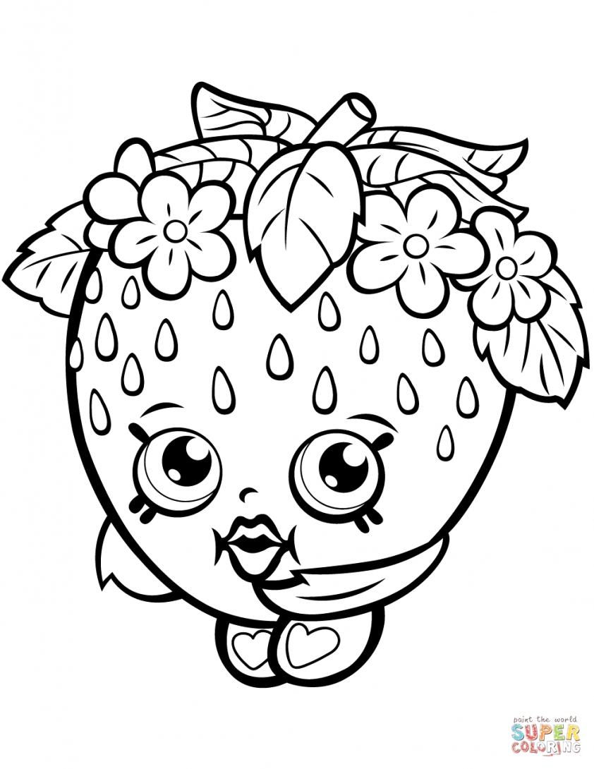 Strawberry Coloring Page Strawberry Coloring Page Ladybug And Strawberries For Kids Fruits 9