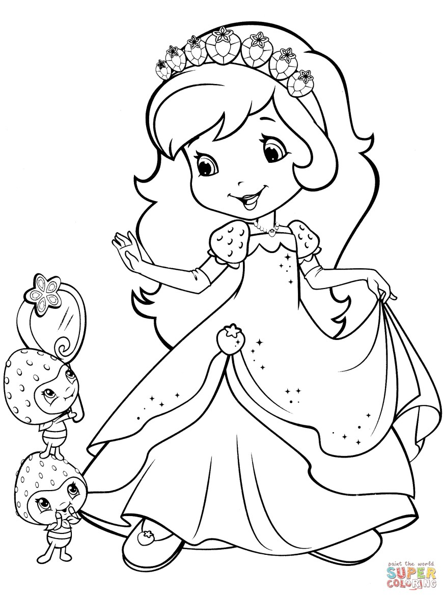 Strawberry Coloring Page Strawberry Shortcake Coloring Pages Free Coloring Pages