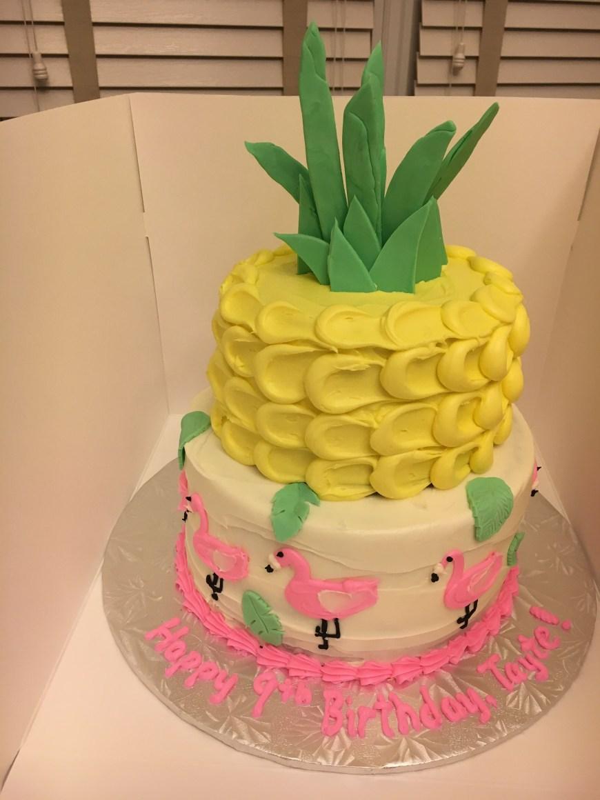 Summer Birthday Cakes Pineapple And Flamingo Summer Birthday Cake Cakes Cupcakes Cookies