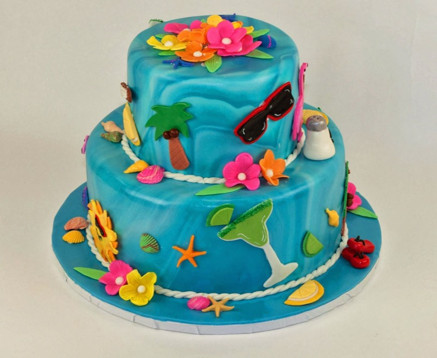 Summer Birthday Cakes Summer Cake Yummy Cake Pinterest Cake Cake Images And Fondant