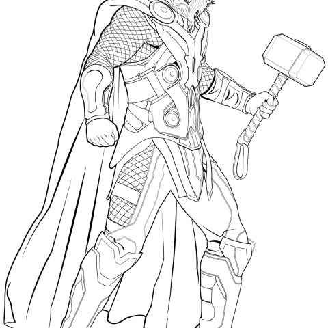 Thor Coloring Pages Avengers Thor Coloring Page Free Printable Coloring Pages
