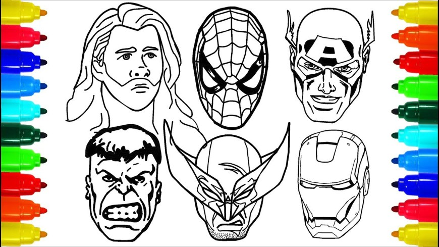 Thor Coloring Pages Spiderman Iron Man Wolverine Thor Coloring Pages Colouring Pages