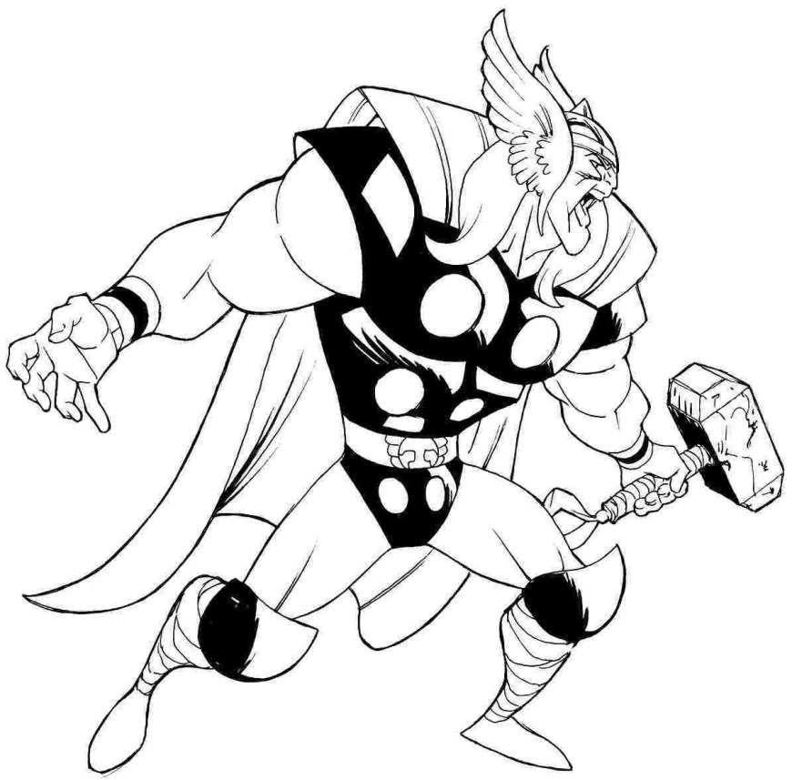 Thor Coloring Pages Sure Fire Thor Coloring Pages Stunning Avengers Page Printable For