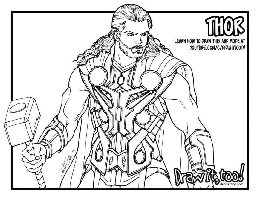 Thor Coloring Pages Thor Coloring Pages 5610 Avengers Chronicles Network 1024791
