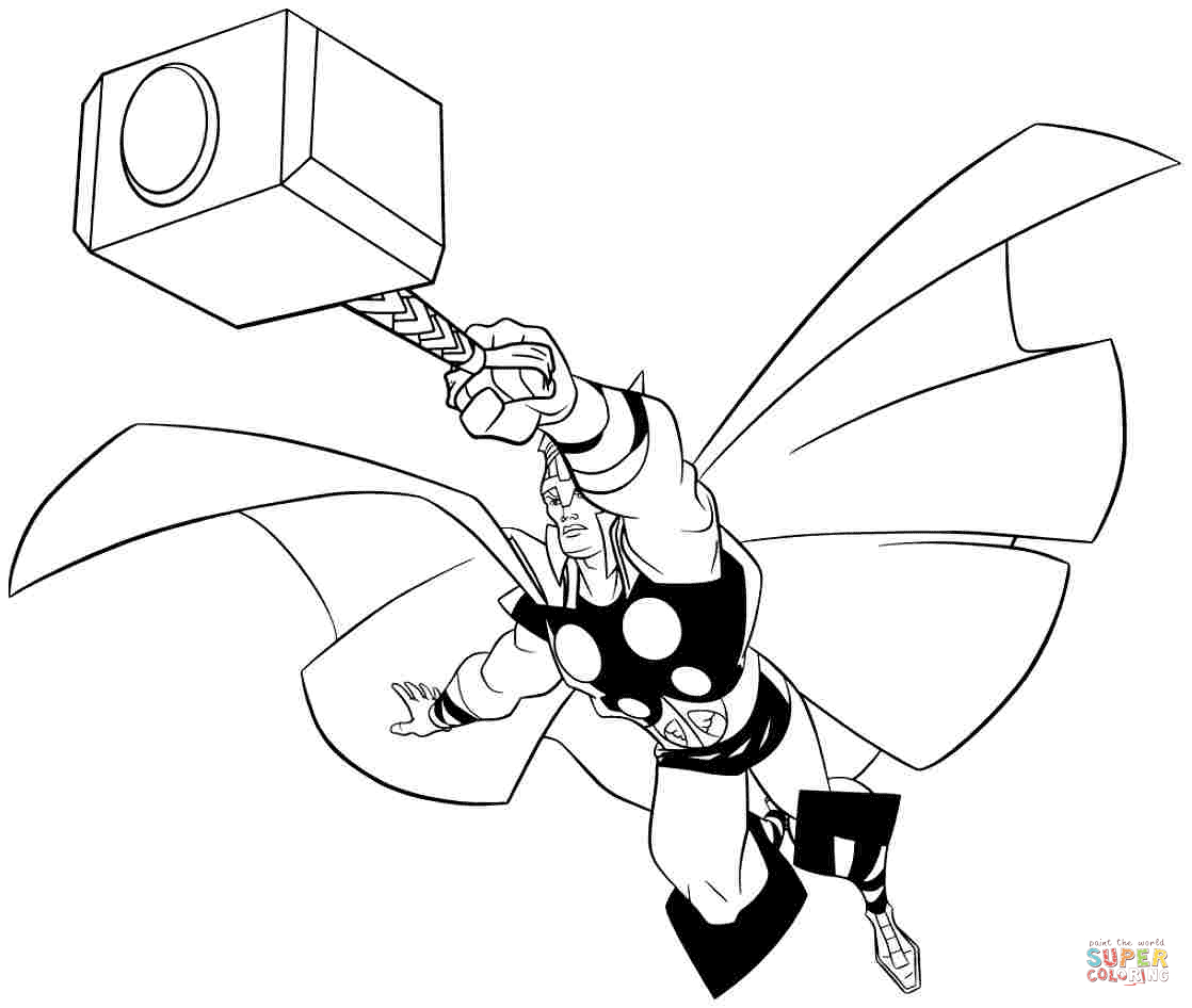 Thor Coloring Pages Thor Coloring Pages Free Coloring Pages