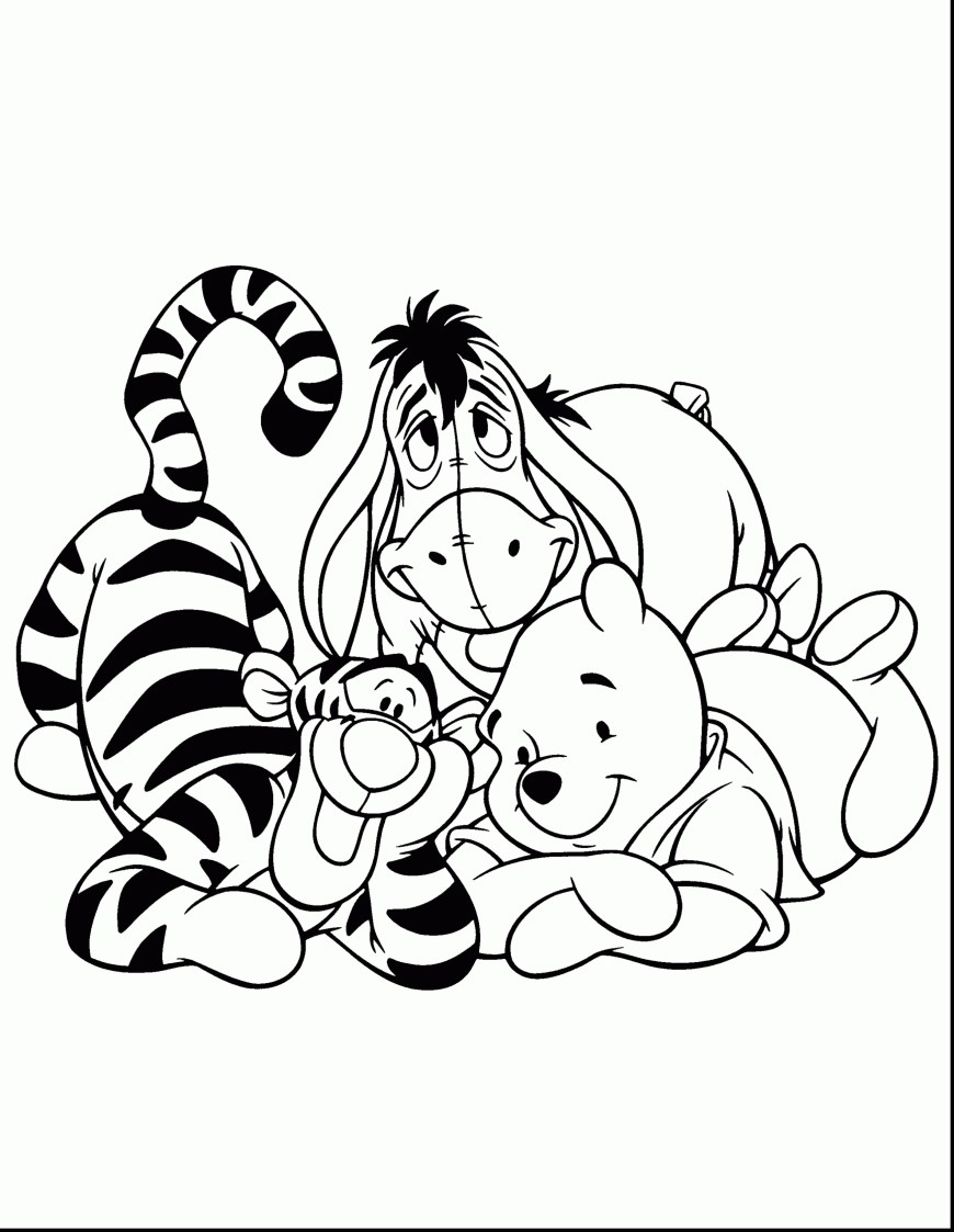 Tigger Coloring Pages Grand Tigger From Winnie The Pooh Coloring Pages Colori Cool