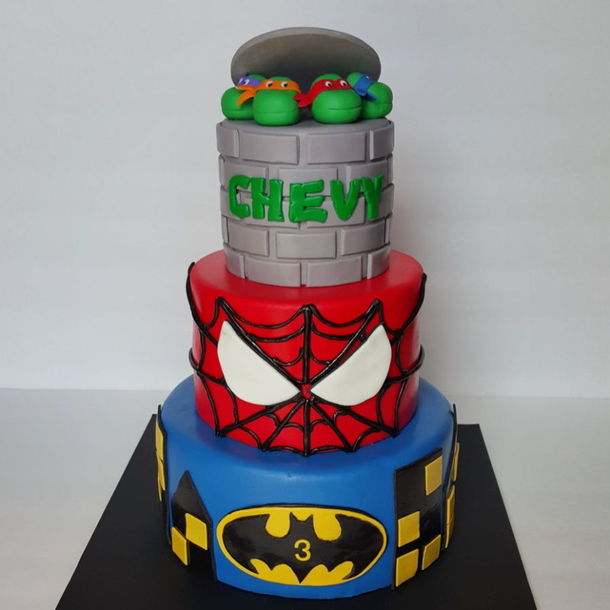 Tmnt Birthday Cake Super Hero Tmnt Birthday Cake Cakecentral