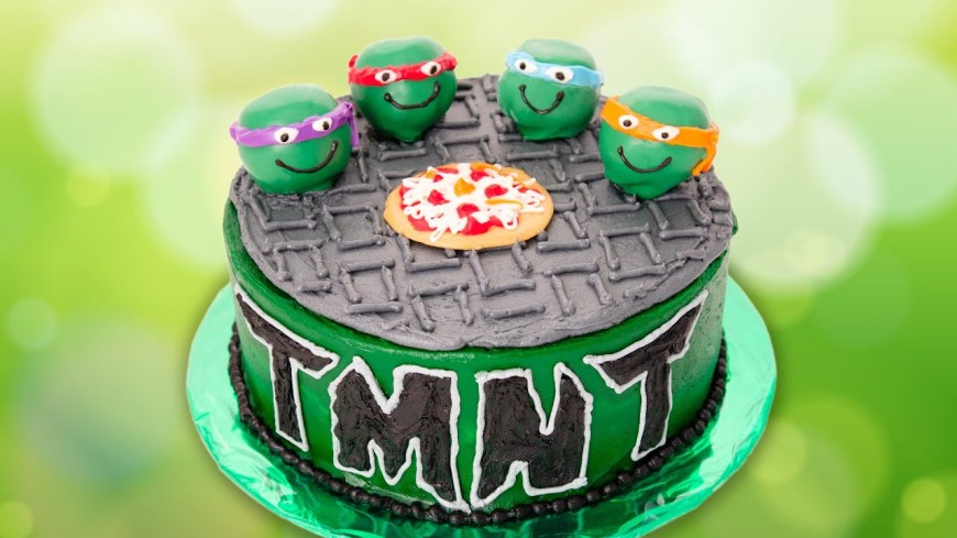 Tmnt Birthday Cake Teenage Mutant Ninja Turtles Cake From Cookies Cupcakes And Cardio