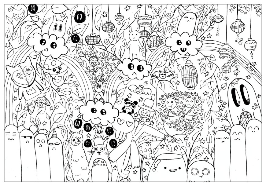 Totoro Coloring Pages Doodle Totoro For Chloe Doodle Art Doodling Adult Coloring Pages