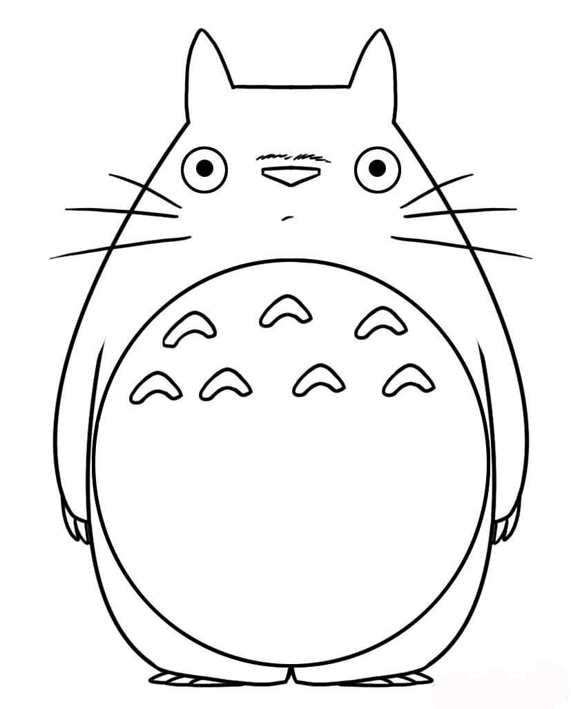 Totoro Coloring Pages My Neighbor Totoro Coloring Pages Freeristmas Page Book Top Pictures