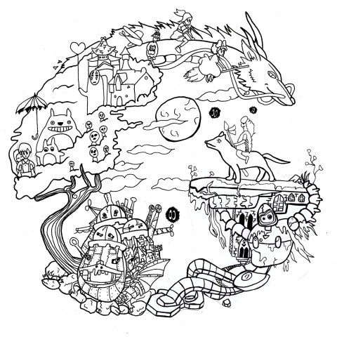 Totoro Coloring Pages Totoro Coloring Pages For Adults