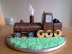 Train Cakes For Birthdays No Bake Train Birthday Cake Kids Birthdays In 2019 Pinterest