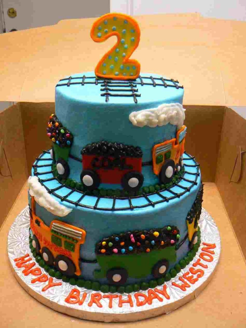 Train Cakes For Birthdays Train Cake Ideas And Diy Inspirationrhcoolestcom A Two Years Old Boy