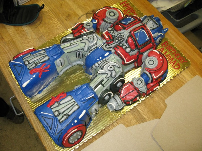 Transformers Birthday Cake Optimus Prime Cakes Decoration Ideas Little Birthday Cakes