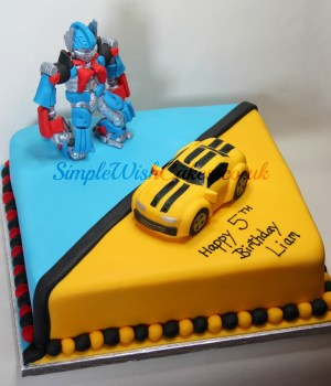 Transformers Birthday Cake Transformers Birthday Cake Stef And Carla Green Flickr