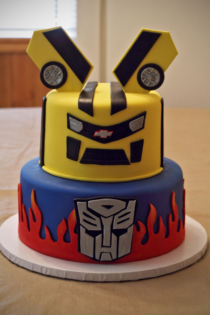 Transformers Birthday Cake Transformers Cake Cumpleanos Pinterest Transformer Birthday