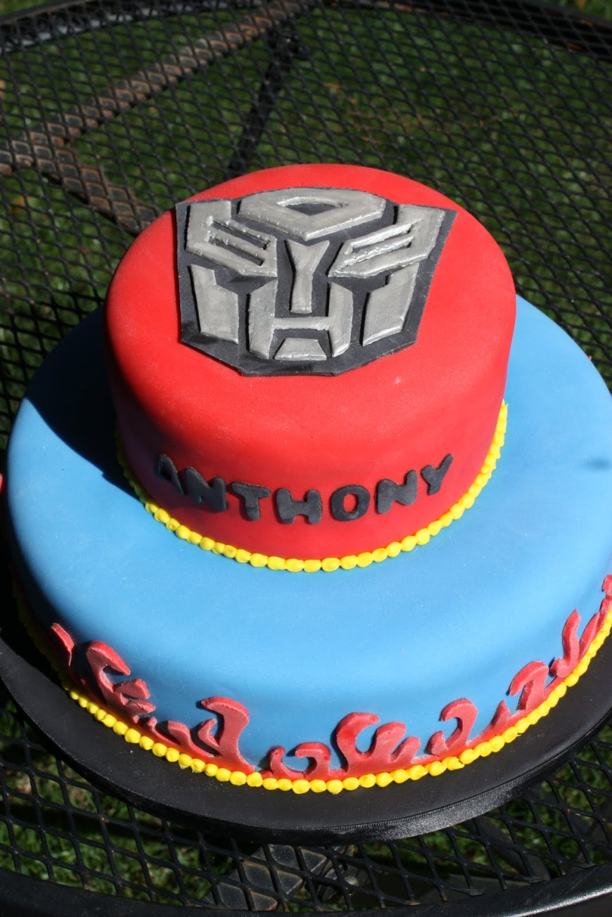 Transformers Birthday Cake Whimsical Design Transformer Birthday Cake
