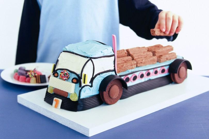 Truck Birthday Cake Big Blue Truck Cake