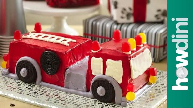 Truck Birthday Cake Birthday Cake Ideas How To Make A Fire Truck Birthday Cake Youtube