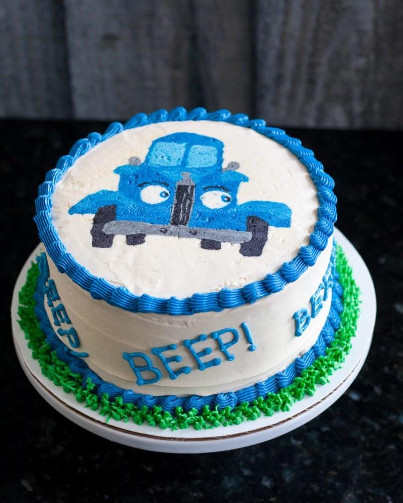 Truck Birthday Cake Little Blue Truck Smash Cake Buttercream Transfer Tutorial