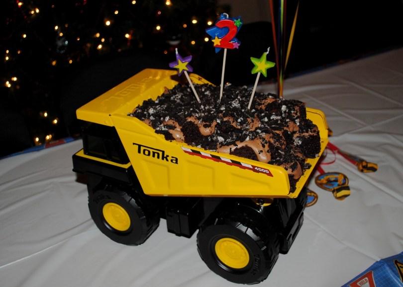 Truck Birthday Cake Mud Trifle And A Dump Truck Birthday Cake