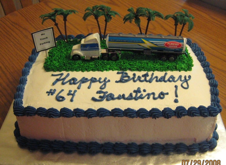 Truck Birthday Cake Truck Driver Birthday Cake Cakecentral
