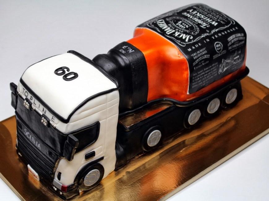 Truck Birthday Cake Truck With Jack Daniels Birthday Cake