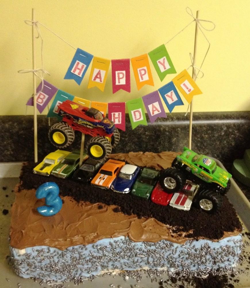 Truck Birthday Cake Whimsikel Monster Truck Birthday Cake