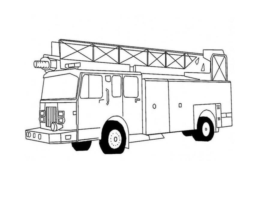 Trucks Coloring Pages Free Printable Fire Truck Coloring Pages For Kids
