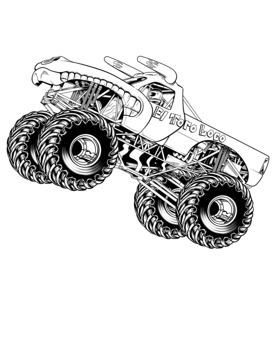 Trucks Coloring Pages Monster Trucks Coloring Pages For Boys Download Printable Coloring
