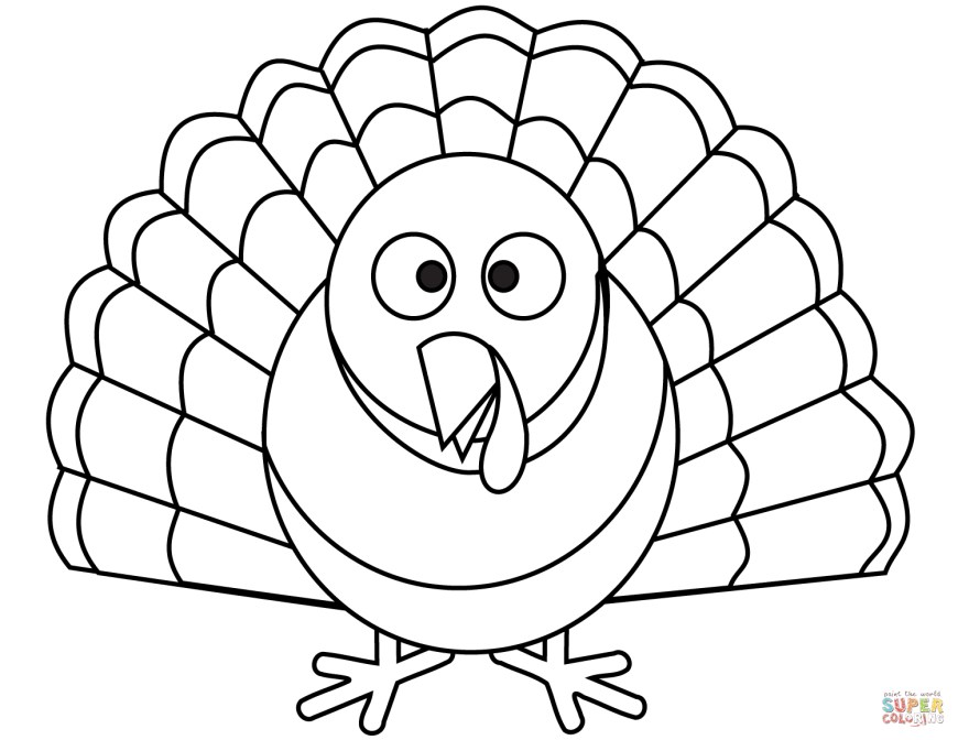 Turkey Coloring Pages Cartoon Turkey Coloring Page Free Printable Coloring Pages