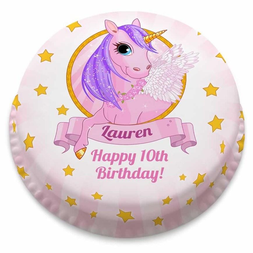 Unicorn Birthday Cake Personalised Unicorn Birthday Cake Unicorn Cakes