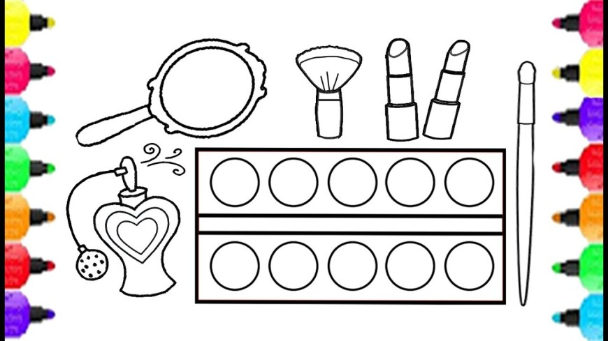Up Coloring Pages Make Up Set Coloring Pages How To Draw Make Up Set For Girls
