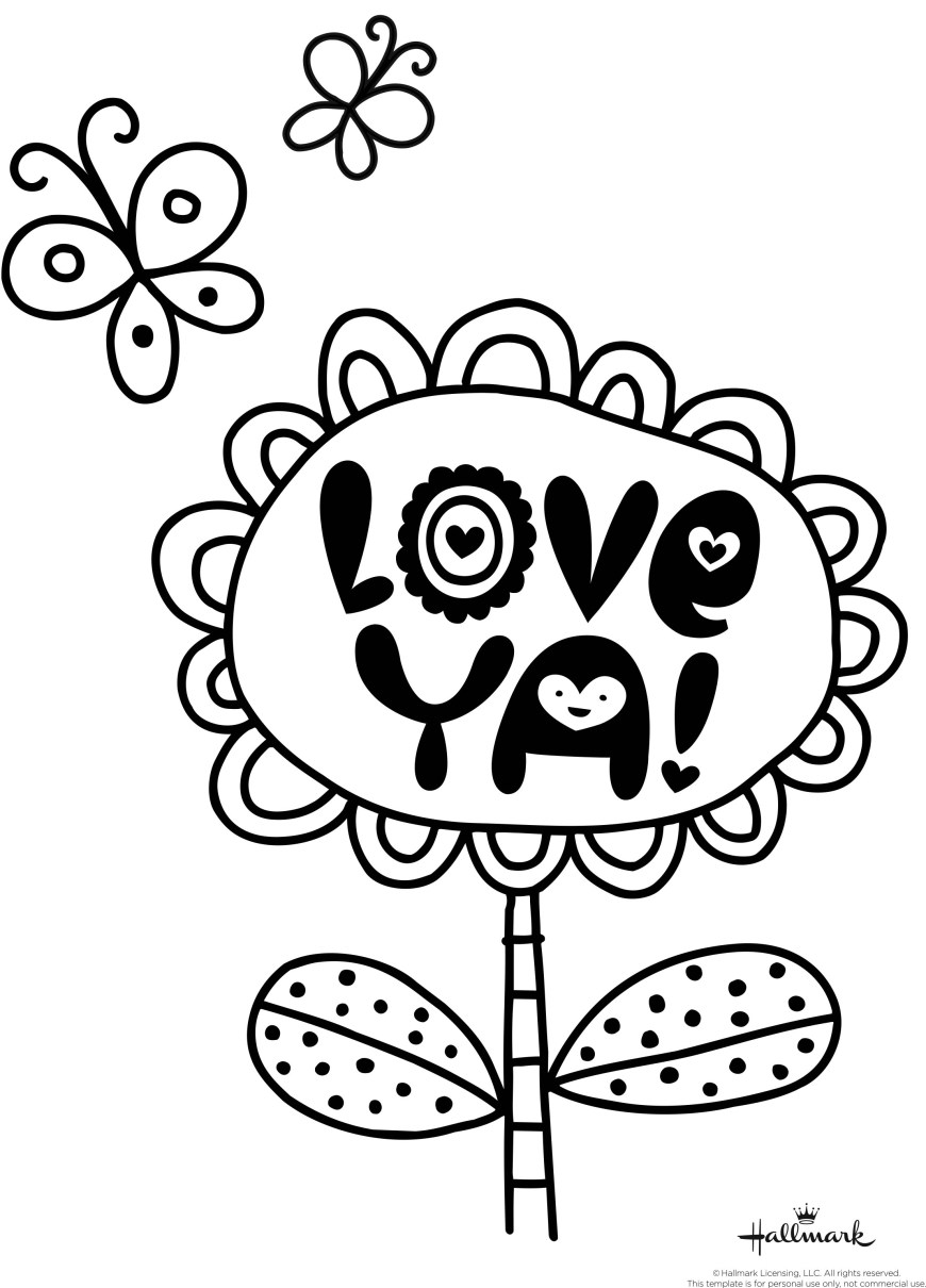 Valentine Day Coloring Pages Valentines Coloring Pages Happiness Is Homemade