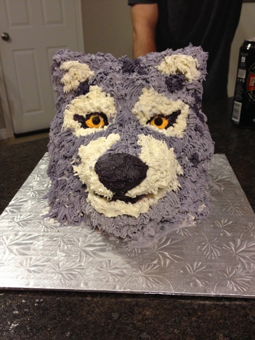 Wolf Birthday Cake My Food Infatuation How To 3d Wolf Head Cake