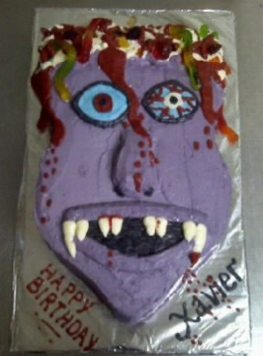 Zombie Birthday Cake Zombie Birthday Cake Cakecentral