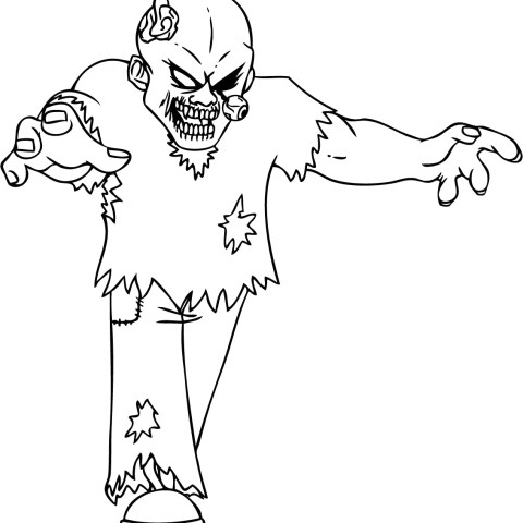 Zombie Coloring Pages Free Printable Zombies Coloring Pages For Kids