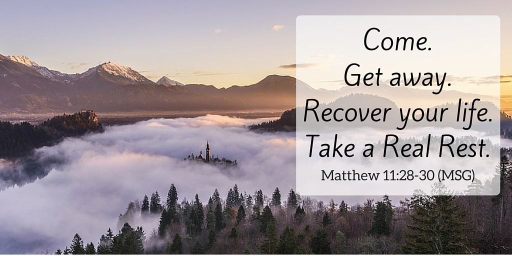 Come.Get away.Recover your life.Take a Real Rest