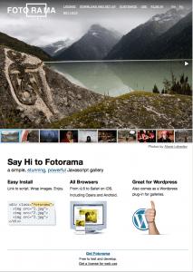 Fotorama Web Site Home Page