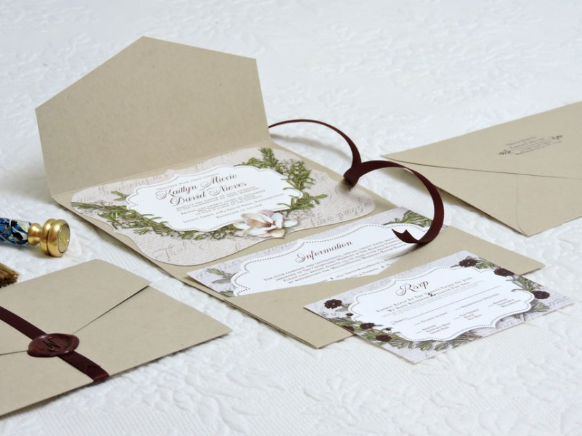 After The Invitation I Designed Rsvp And Information Cards To Fit In Envelopment By Wedding Paper Divas Package Was Folded Sealed Together