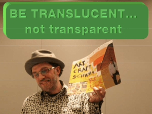 Mojo makes a slide about Transluscency