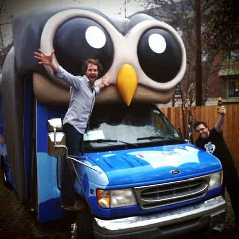 @invoker and @daveohoots roll the #hootbus at #SXSW