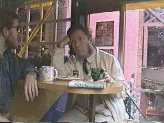 Ian Hunter (RIP) and Dave O at a Cafe
